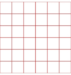 Red Grid White Background vector