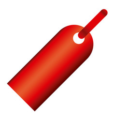 Red tag sign icon vector