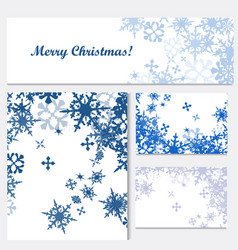 set corporate christmas identity templates vector image
