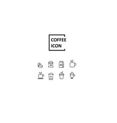 Simple coffee icon vector