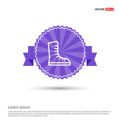 skating shoe icon - purple ribbon banner vector image