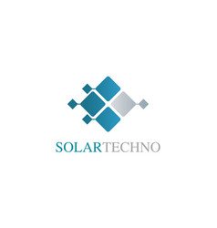 square solar technology logo vector image