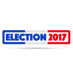 symbol of election 2017 in france vector image