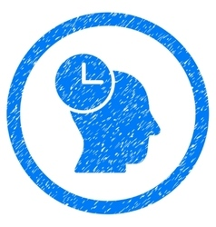 Time Thinking Rounded Icon Rubber Stamp vector