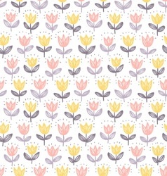 Tulips pattern vector