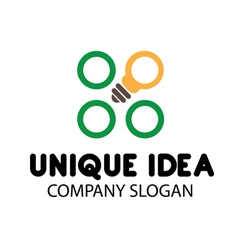 Unique Idea Design vector
