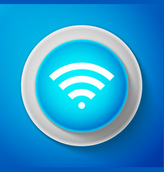 white wi-fi wireless internet network symbol icon vector image