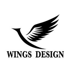 Wings design 3 vector