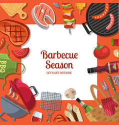 With barbecue or grill cooking vector
