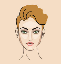 woman girl hairstyle portrait vector image