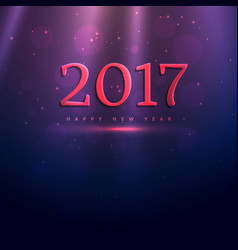 2017 elegant text style effect on purple shiny vector image vector image