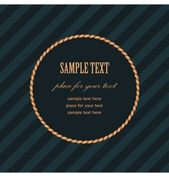 frame rope round vector image