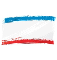 Grunge Crimea flag vector image