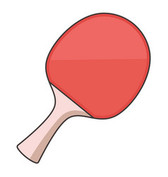 ping pong paddle icon cartoon style vector image