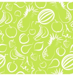 seamless background with fruit vector image