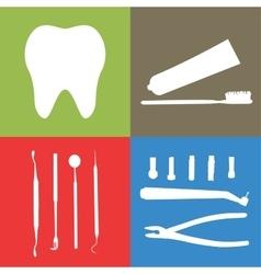 Background or banner teeth dental instruments vector