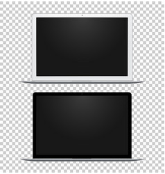 Black and white notebook with empty screens vector