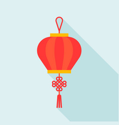 chinese lantern flat design icon vector image