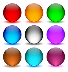 Different colors icons ball vector image