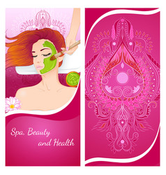 girl with a face mask vector image