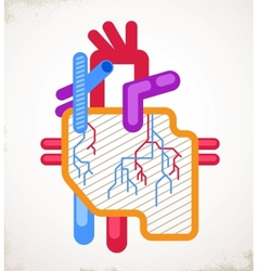 Human Heart health disease and attack icon vector image vector image