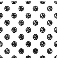 pizza with olives and mushrooms pattern vector image