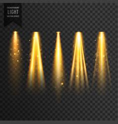realistic stage lights or concert spotlights vector image