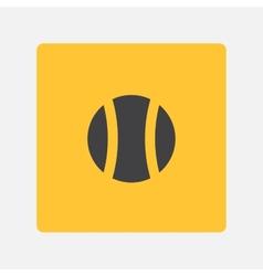 Tenysny ball icon vector image vector image