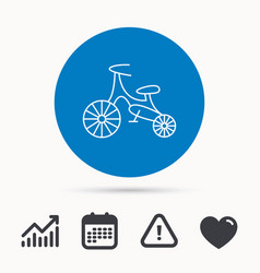 bike icon kids run-bike sign vector image
