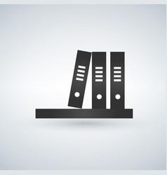 bookshelf grey icon vector image