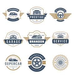 car logos templates design elements set vector image vector image