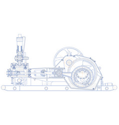 Drilling triplex pump vector