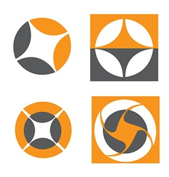 Orange grey logo elements vector image