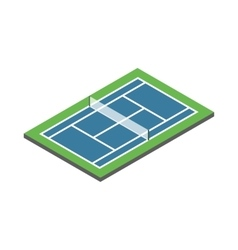 Tennis court icon isometric 3d style vector image vector image