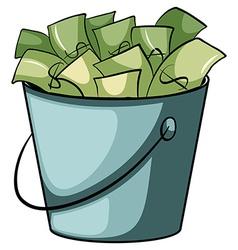 A pail money vector