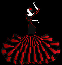abstract flamenco dancer in the dark vector image