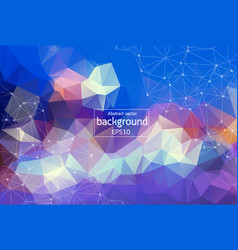 abstract polygonal surface background low poly vector image