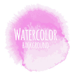 Abstract watercolor background pink color isolated vector