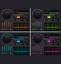 audio player template vector image
