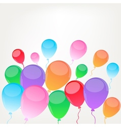 Background with baloons vector