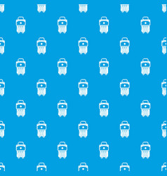 bag design pattern seamless blue vector image