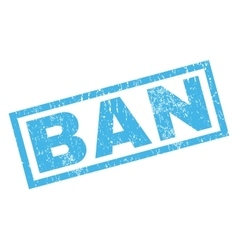Ban Rubber Stamp vector