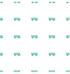 Barrow icon pattern seamless white background vector