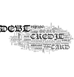 beat credit card debt in easy steps text word vector image