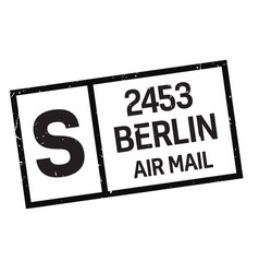 Berlin postage stamp vector
