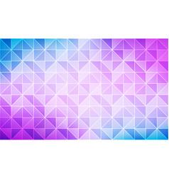 blue purple grid mosaic pattern triangle vector image