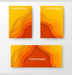 bright web brochures and banner templates vector image