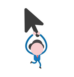 businessman character running and holding up vector image