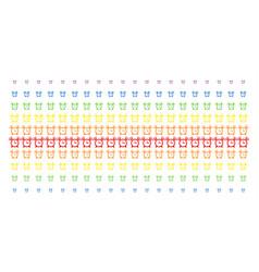 Buzzer shape halftone spectral effect vector