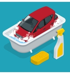 Car Washing car wash service Car with Car wash vector image